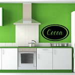 Cocoa oval Decal