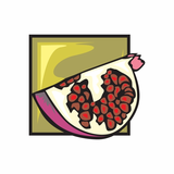 Cut Pomegranate Sticker