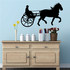 Driving Horse Carriage Decal