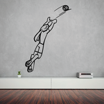 Volleyball Wall Decal - Vinyl Decal - Car Decal - CDS002