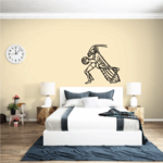 Basketball Mascot Grasshopper Decal