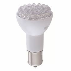 Green Long Life LED Bulb 1383/BA15S