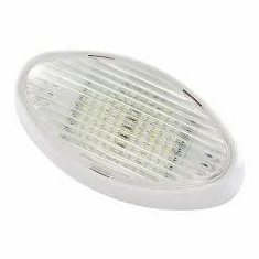 LED Oval Porch Light, Clear & Amber Lenses