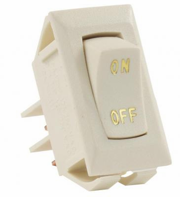 Labeled 12V On/Off Switch, Ivory