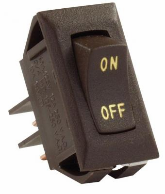 Labeled 12V On/Off Switch, Brown