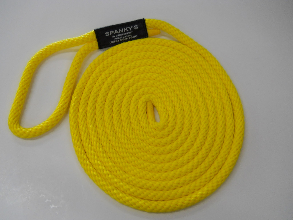 15ft 7/16 Polyproplylene with Loop-Yellow