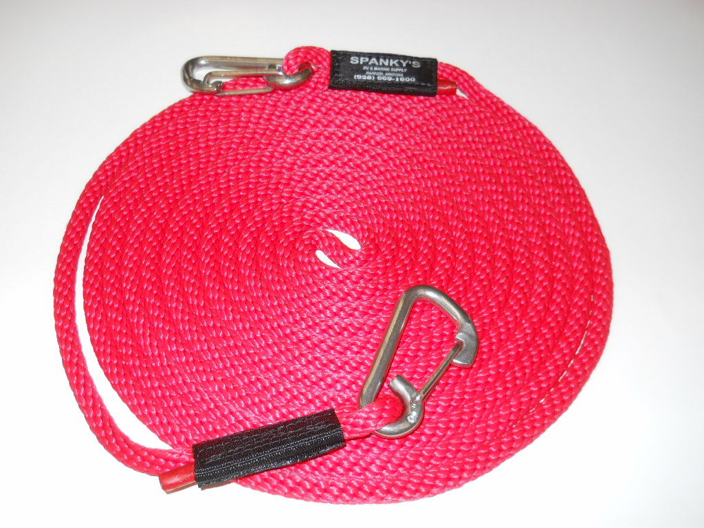 """25' X 7/16"""" Tow Line-Red"""