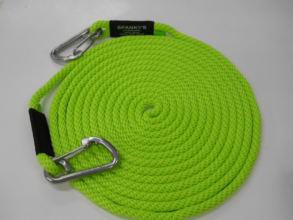 """25' X 7/16"""" Tow Line-Lime"""