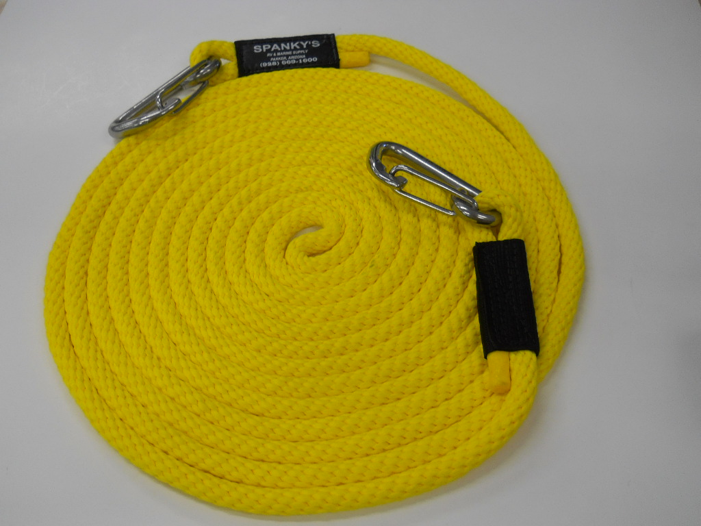 """25' X 7/16"""" Tow Line-Yellow"""