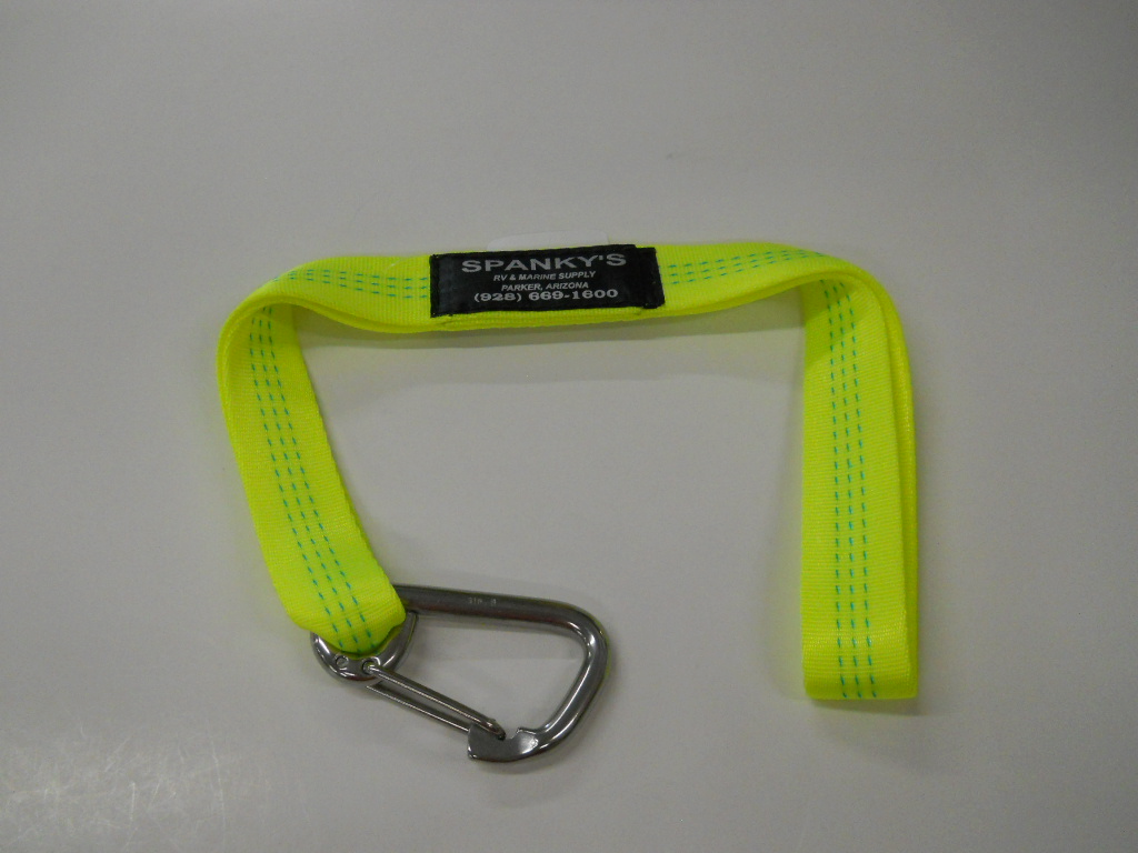 """Webbed Buoy Tie with 3"""" standard clip-Lime"""