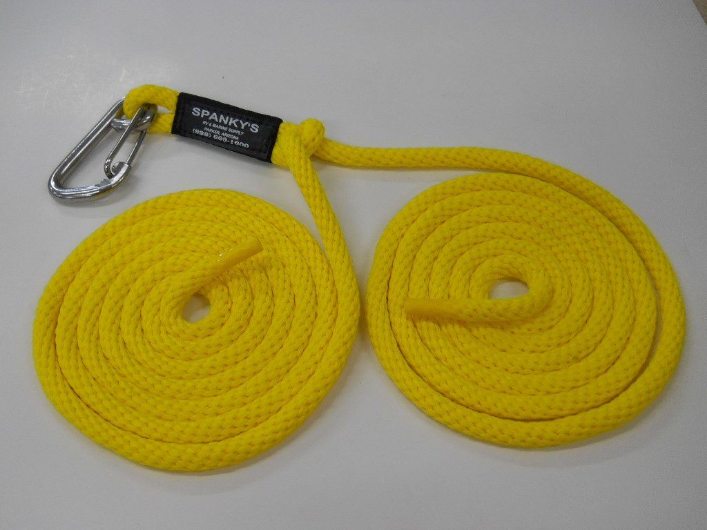 """16ft Spring Tie with 4"""" clip-Yellow"""