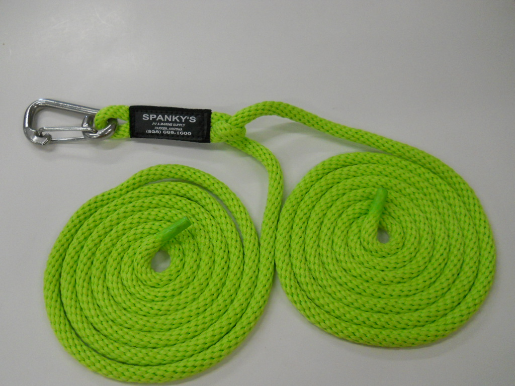 """16ft Spring Tie with 4"""" clip-Lime"""