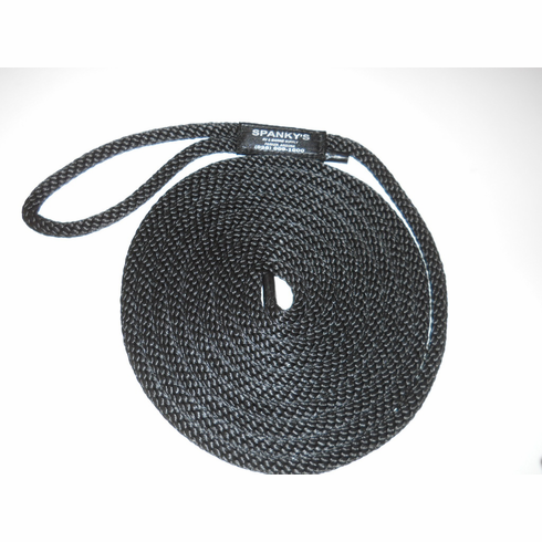 15ft 7/16 Polyproplylene with Loop-Black