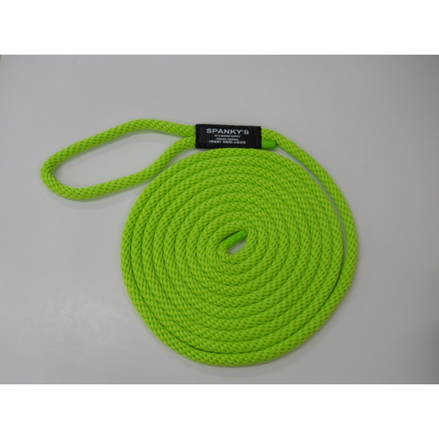 15ft 7/16 Polyproplylene with Loop-Lime
