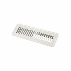 jr 2X10in  floor register undampered metal white