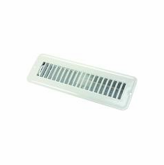 jr 2 X 10in  floor register dampered metal white