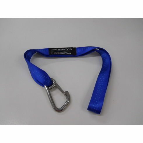 """Webbed Buoy Tie with 3"""" standard clip-Blue"""