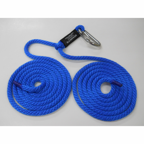 """16ft Spring Tie with 4"""" clip-Blue"""