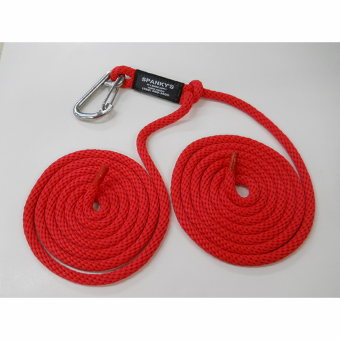 """16ft Spring Tie with 4"""" clip-Red"""