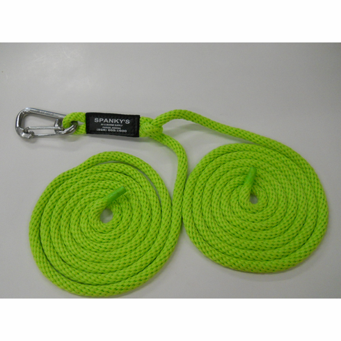 "16ft Spring Tie with 4"" clip-Lime"