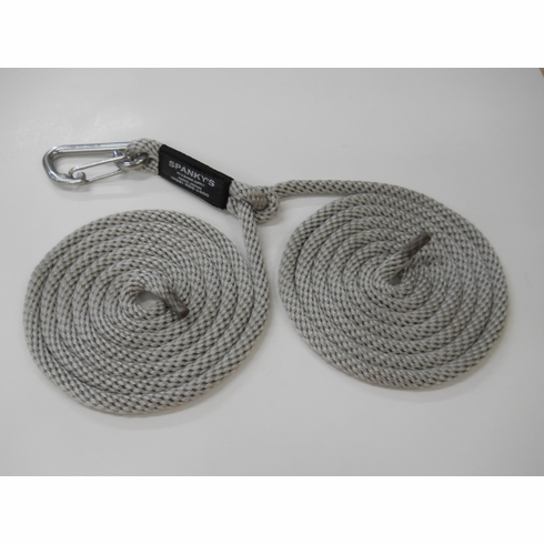 """16ft Spring Tie with 4"""" clip-Silver"""