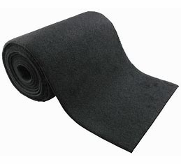 "Marine Grade Bunk Carpet 10 1/4"" Wide (Black) 50ft Section"