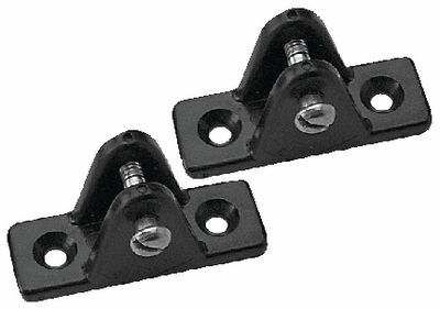 Black Nylon Small Deck Hinge (Pair)