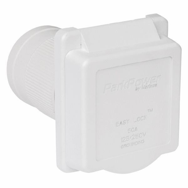 ParkPower 50A 125/250V Standard Power Inlet-White