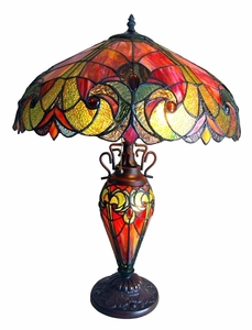 Liaison Red Victorian Table Lamp