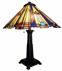 Traditional Mission Tiffany Table Lamp