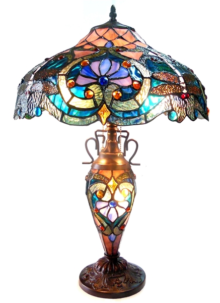Lydia 3-Light Victorian Table Lamp