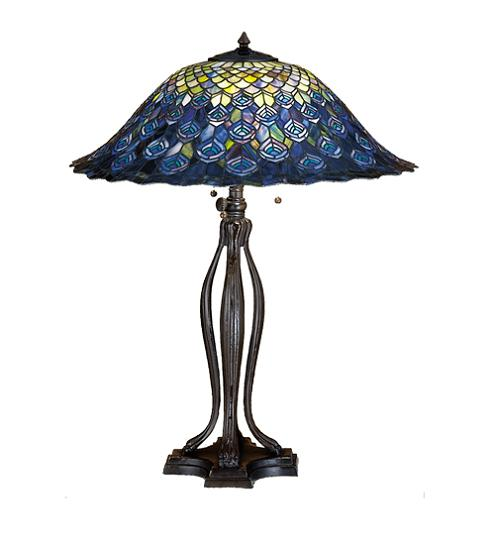 Peacock Feather Table Lamp