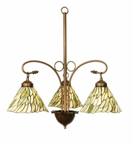 Jadestone Willow Three Light Chandelier