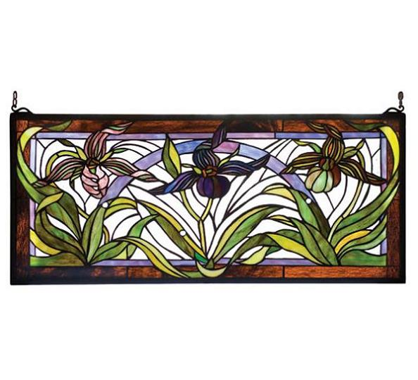 Ladyslippers Stained Glass Window