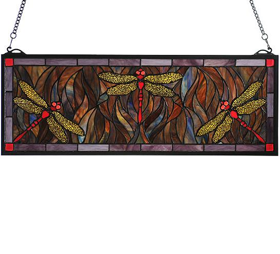 Dragonfly Stained Glass Window