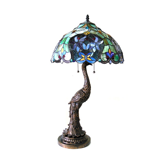 Chloe Persia Peacock Table Lamp