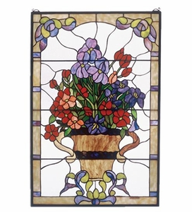 Floral Arrangement Stained Glass Window