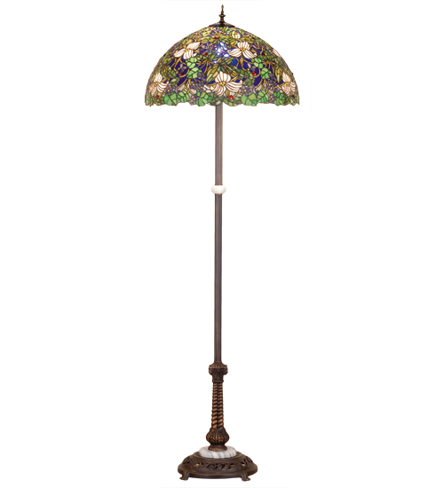 Trillium and Violet Floor Lamp