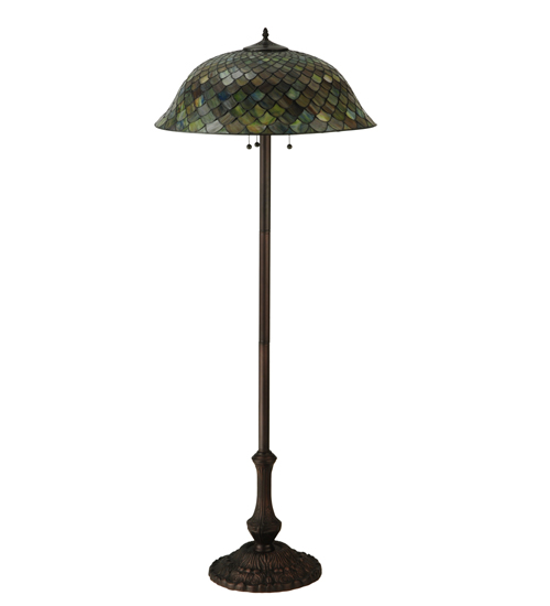 Variegated Fishscale Floor Lamp