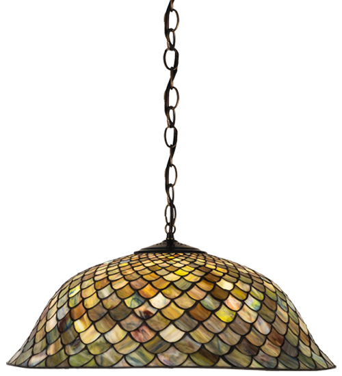 Variegated Fishscale Pendant Lamp