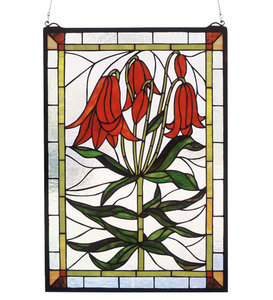 Trumpet Lily Stained Glass Window