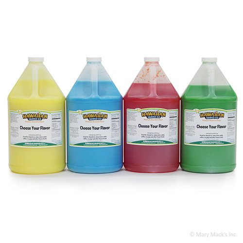 4 Gallons of Snow Cone Concentrate Flavor