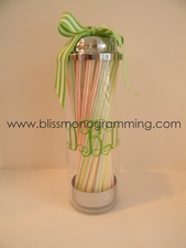 Acrylic Straw Holder