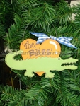 Gator Heart<br>Christmas Ornament