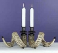 Ram Horn Candle Holder (Pair)