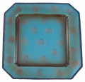 Turquoise Square Iron Charger