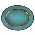 Turquoise Oval Iron Charger 16.5""