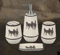 3 Horse Bathroom Set