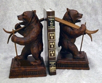 Ski Bears Bookends