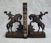 Cowboy On Horse Bookends